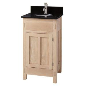 19 Bathroom Vanity Elegant Unfinished Mission Hardwood Vanity for Undermount Sink Pattern
