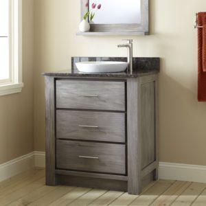 30 Bathroom Vanity with Drawers Cute Venica Teak Vanity for Semi Recessed Sink Gray Wash Bathroom Design