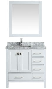36 Bathroom Vanity with top Incredible Inch Transitional Single Sink Bathroom Vanity Set White Finish Collection