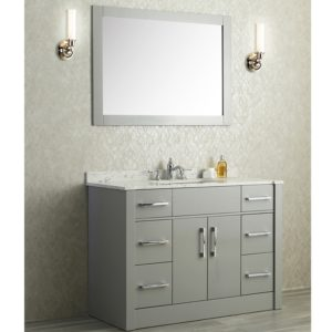 48 Single Sink Bathroom Vanity top Ace Single Sink Bathroom Vanity Set Taupe Grey Finish Image
