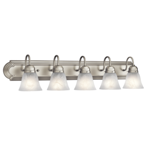 5 Light Bathroom Fixture Latest 5 Light Bath Bar Fixture In Brushed Nickel Finish Decoration