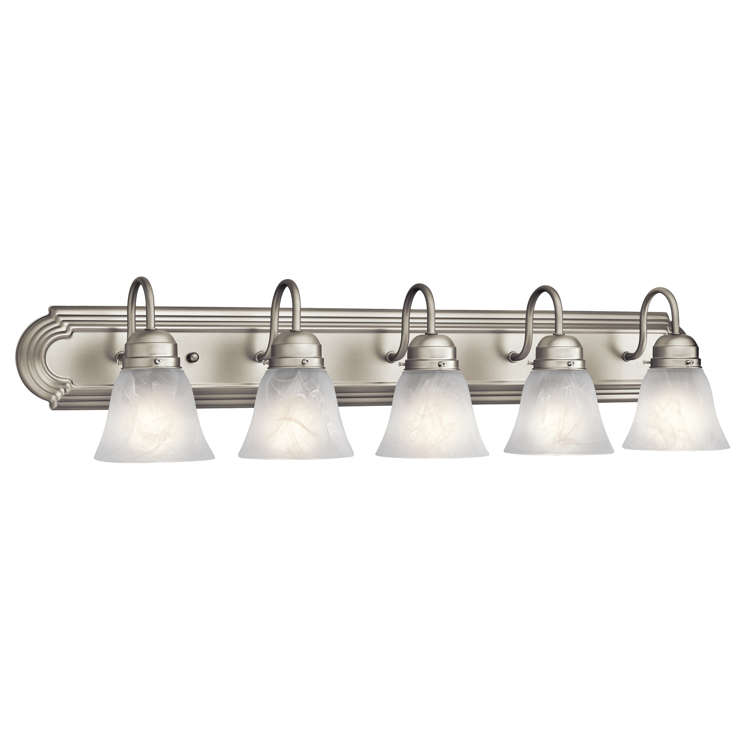 5 Light Bathroom Fixture Latest Bath Bar In Brushed Nickel Finish Decoration