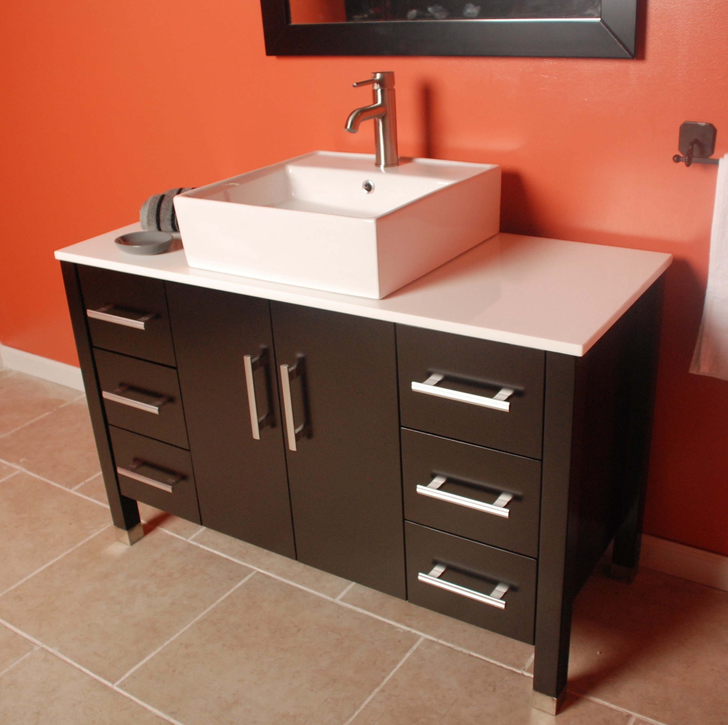 today set inch overstock garden ariel sink grey shipping single left bathroom free home in product offset vanity cambridge
