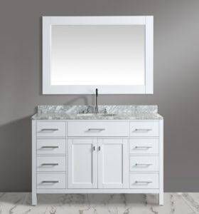 54 Inch Bathroom Vanity Single Sink Fresh Inch Single Sink Bathroom Vanity Set White Finish with White Decoration