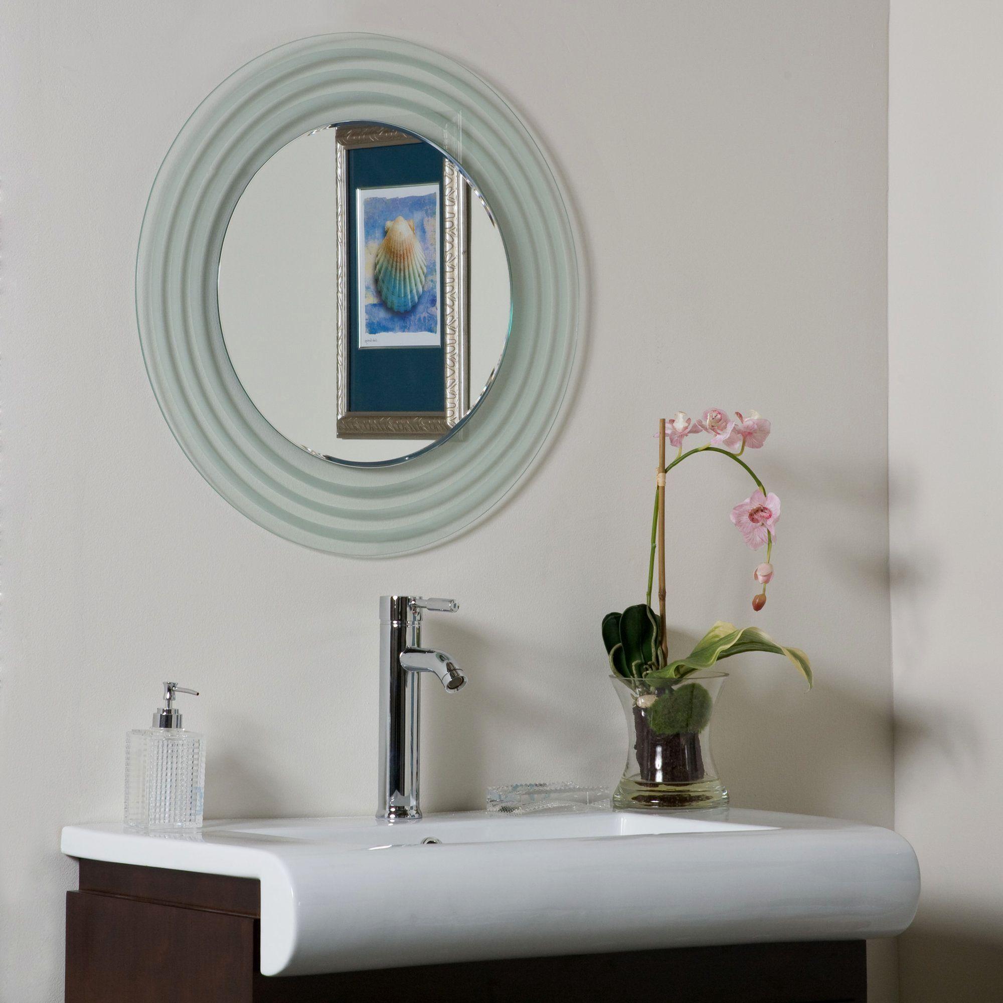 amazing bathroom frameless mirror décor-Awesome Bathroom Frameless Mirror Concept