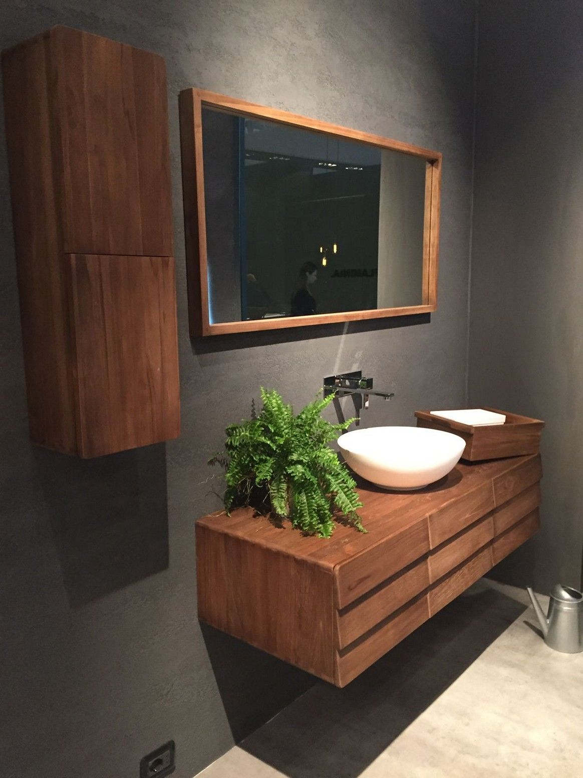 Modern Bathroom By Desai Chia Architecture By: Unique Mid Century Modern Bathroom Vanity Wallpaper