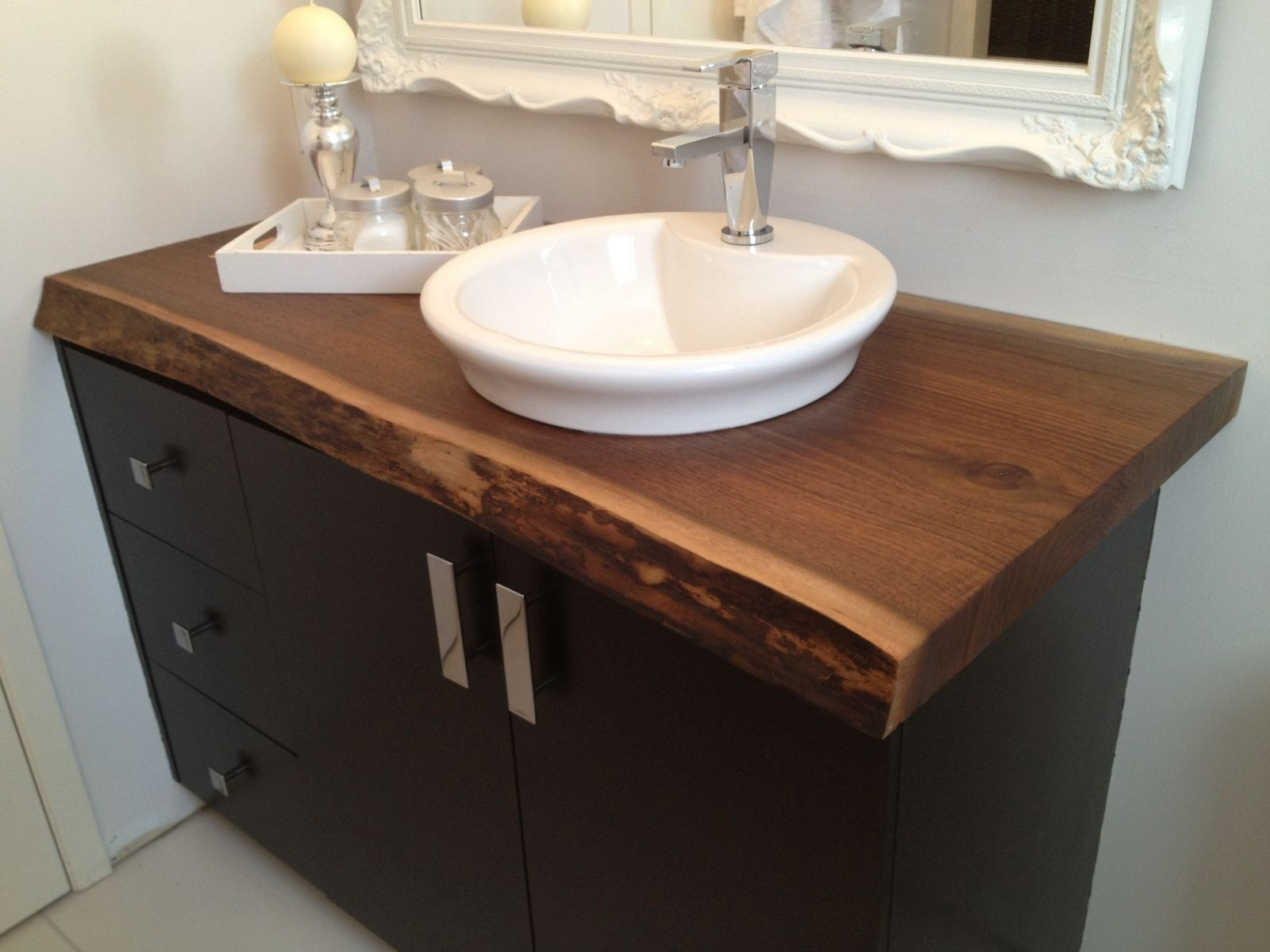 Bathroom Countertops and Sinks Sensational Live Edge Black Walnut Bathroom Countertop This Would Be Perfect Inspiration