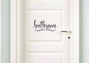 Bathroom Door Decals Stunning Bathroom Decal Make Your Own Sign Door Decal Bath Door Pattern