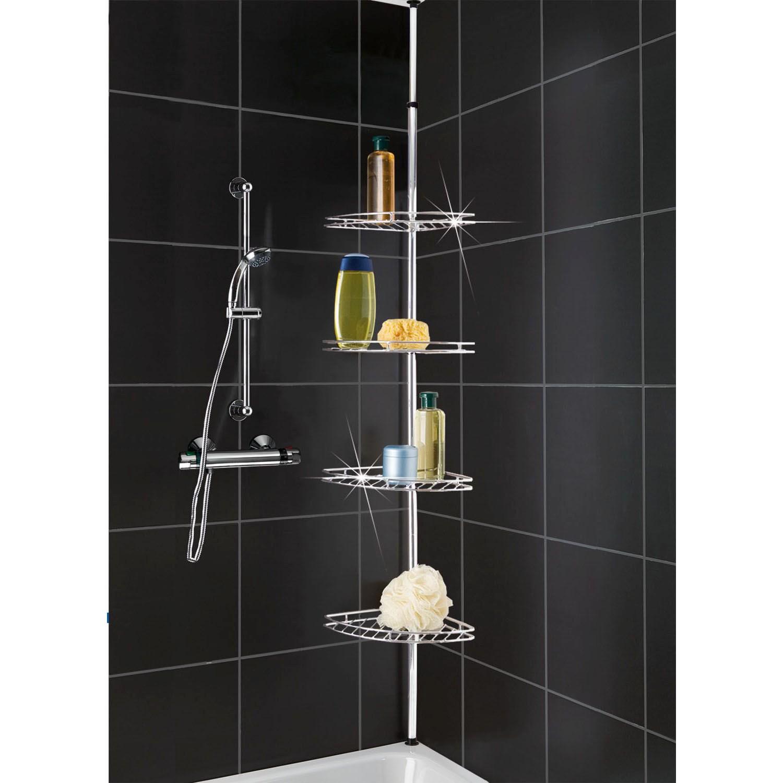 bathroom design ideas shelves magnificent brown scheme square of light tile shower in color storage shelf built
