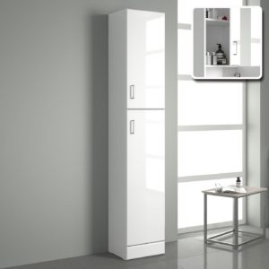 Bathroom Standing Shelf Cool Mm Tall Gloss White Bathroom Cupboard Reversible Storage Collection