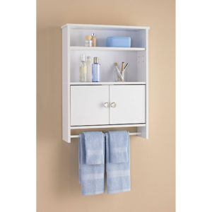 Bathroom Storage Walmart Excellent Mainstays 2 Door Wood Wall Cabinet White Walmart Model