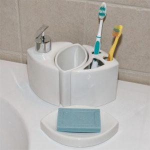 Bathroom toothbrush Holder Set Cute Modern Porcelain Bathroom Accessories 4 Piece Set White Bathroom Architecture