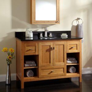 Bathroom Vanity Cabinet Fantastic Alcott Bamboo Vanity for Undermount Sink Bathroom Ideas