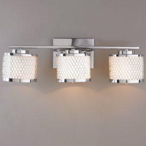 Bathroom Vanity Light Shades Incredible Lattice Drum Bath Vanity Light 3 Light Shades Of Light Gallery