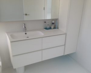 Bathroom Vanity Sets Ikea New Bathroom White Cabinet and Stainless Faucet with Acrylic Floating Portrait