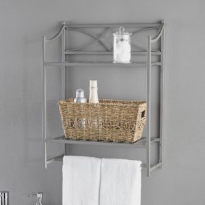 Bathroom Wall Shelf Awesome Chapter Lexington Park Bathroom Wall Shelf Satin Nickel Picture
