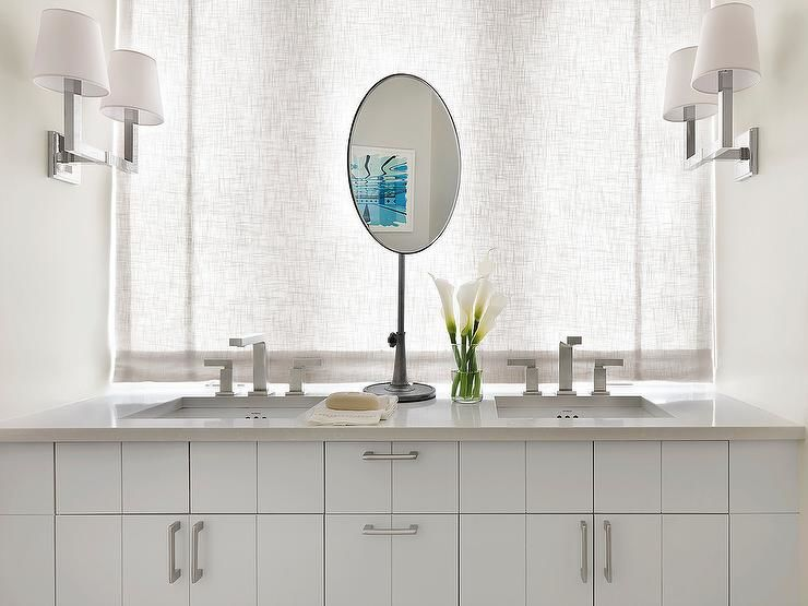beautiful bathroom pivot mirror pattern-Contemporary Bathroom Pivot Mirror Layout