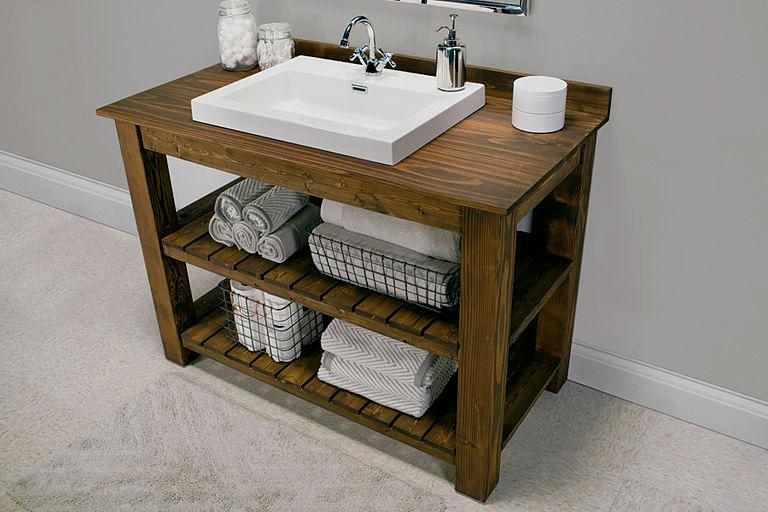 beautiful rustic bathroom vanity plans portrait-Finest Rustic Bathroom Vanity Plans Décor