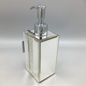 Bella Lux Bathroom Accessories New Lux Mirror Rhinestone Crystal Liquid soap Dispenser Bathroom Ideas