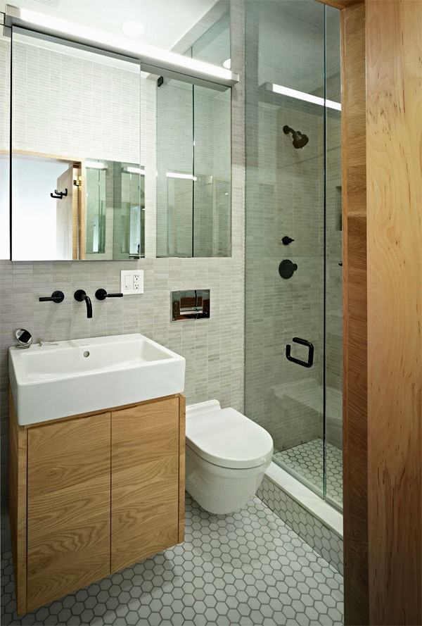 8x8 Bedroom Design: Unique 8x8 Bathroom Layout Model