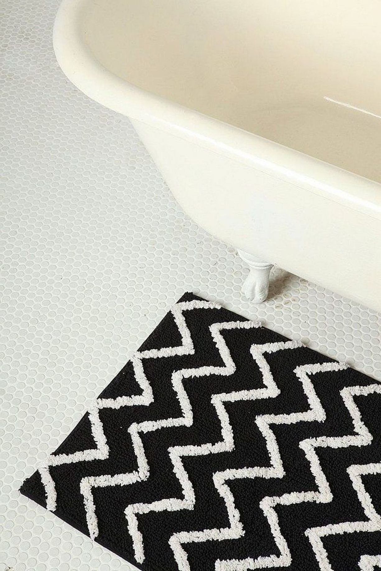 Wonderful Black And White Bathroom Rugs Photograph
