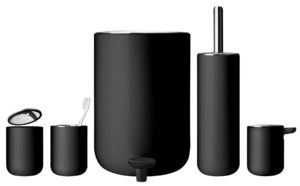 Black Bathroom Trash Can Contemporary Black Bathroom Trash Can Model