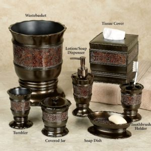 Bronze Bathroom Set Superb Prescott Bronze Bath Accessories Portrait