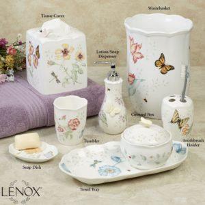 Butterfly Bathroom Accessories Beautiful Lenox butterfly Meadow Porcelain Bath Accessories Online
