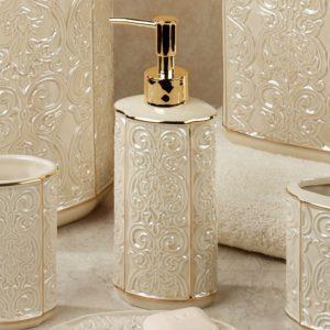 Ceramic Bathroom Accessories Fascinating Furla Cream Damask Ceramic Bath Accessories Picture