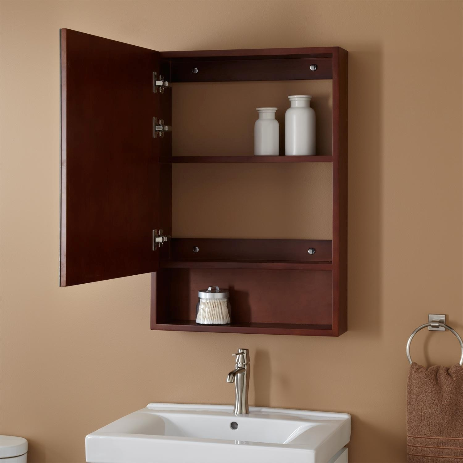 Cherry Bathroom Wall Cabinet Latest Gorgeous Cabinets Open Medicine In Pattern