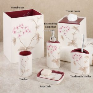 Cherry Blossom Bathroom Set Latest Christina Red Cherry Blossom Bath Accessories by Croscill Collection
