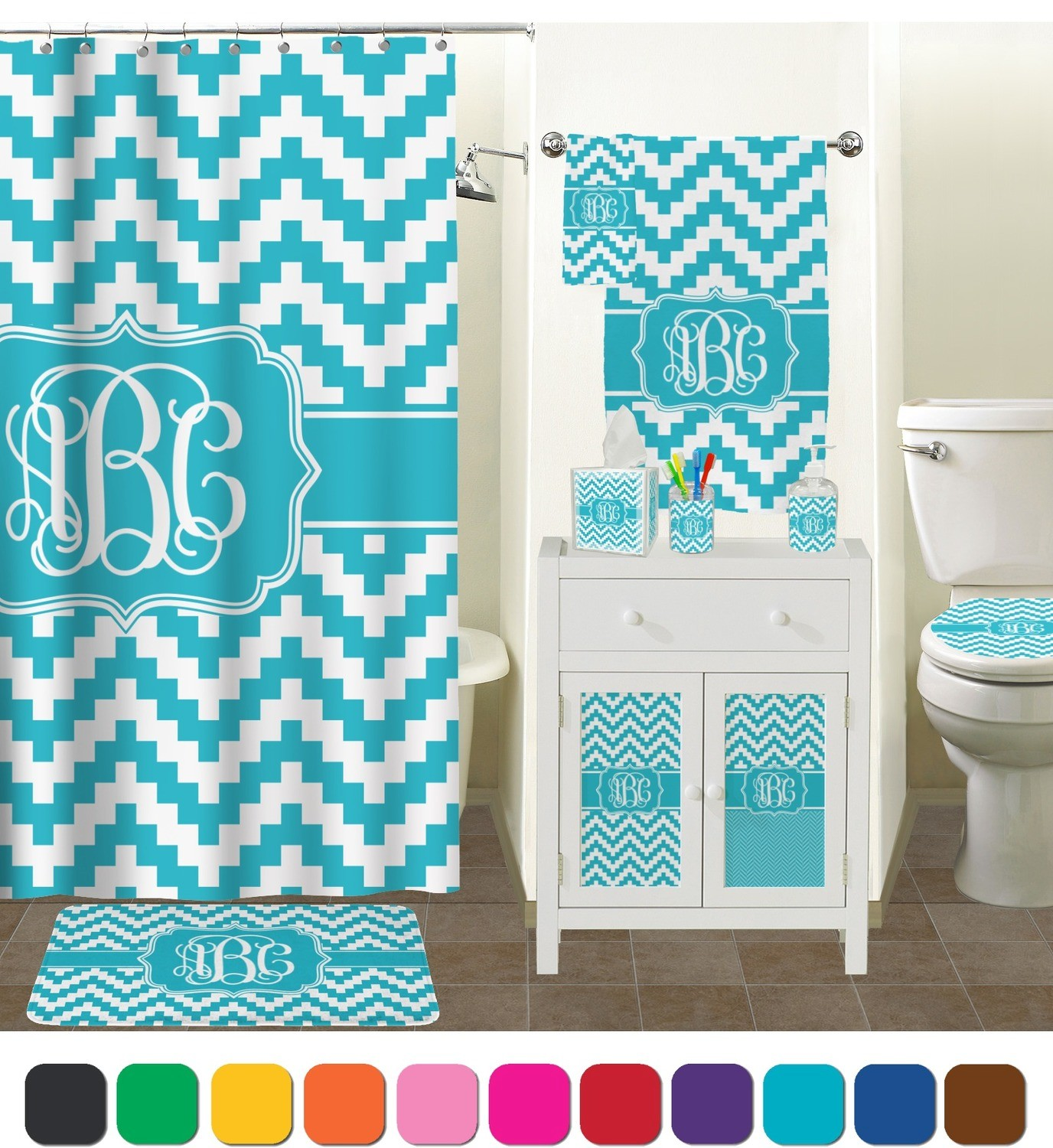 Shower Curtain And Rugs Chevron Bathroom Set Lovely Pixelated Accessories Personalized Online