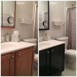 Colored Bathroom Vanity top How to Update the Color Of Your Bathroom Vanity Cabinet Image