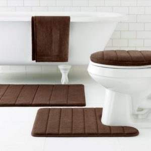 Contemporary Bathroom Rugs Finest Picture 4 Of Contemporary Bathroom Rugs Elegant Brown Bath Pattern