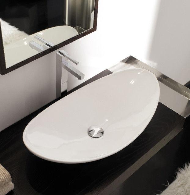 contemporary oval bathroom sinks image-Amazing Oval Bathroom Sinks Decoration