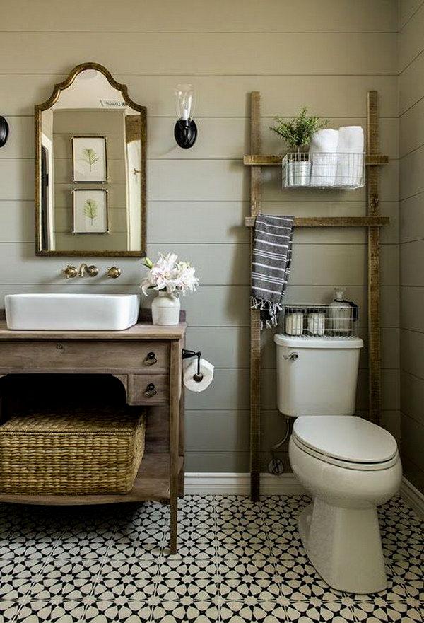 cool farmhouse style bathroom vanity inspiration-Stylish Farmhouse Style Bathroom Vanity Pattern
