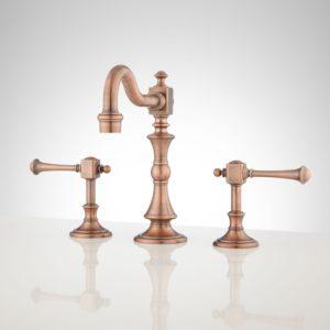 Copper Bathroom Sink Faucets Wonderful Vintage Widespread Bathroom Faucet Lever Handles Inspiration