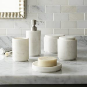 Crate and Barrel Bathroom Unique Highlow Marble Bath Accessories Ideas