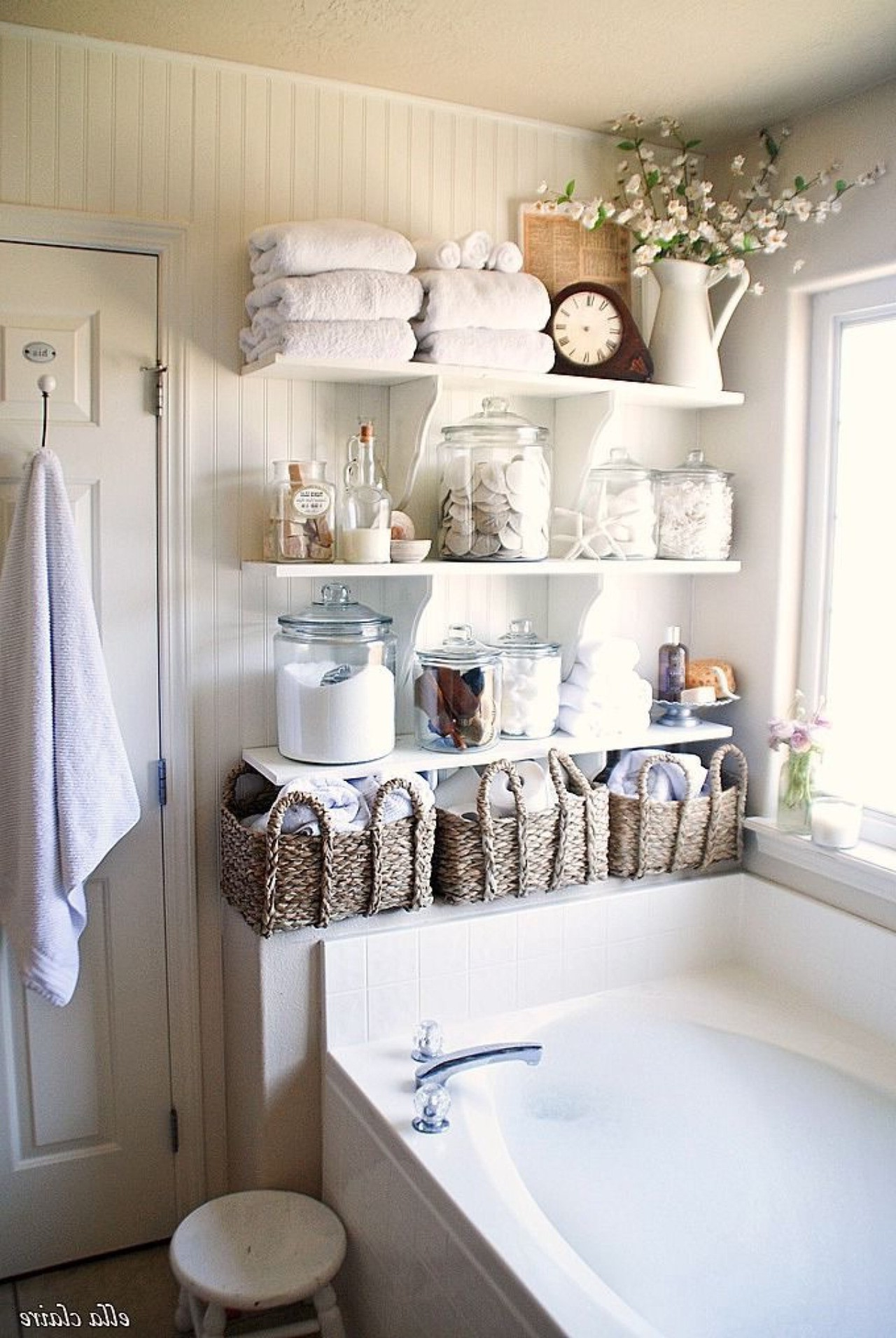 Beautiful Creative Bathroom Storage Pattern - Home Sweet ...