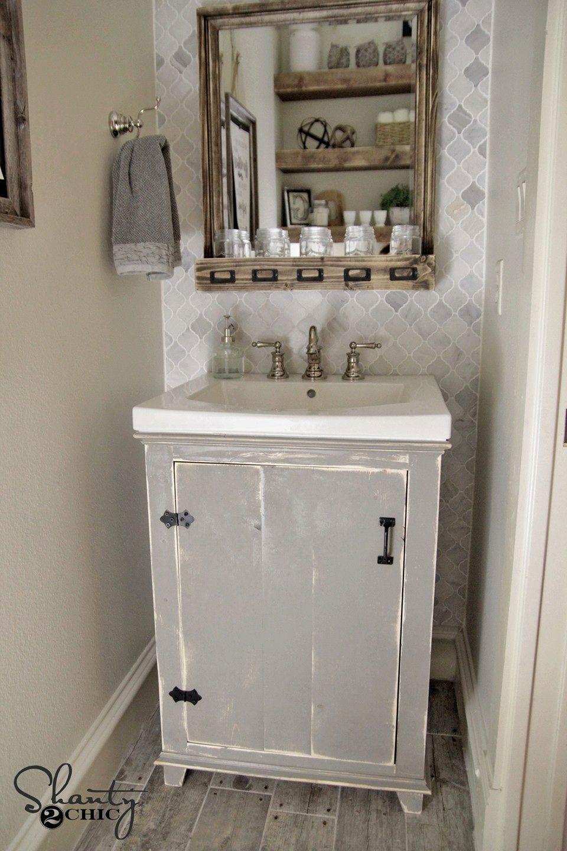 cute farmhouse style bathroom vanity design-Stylish Farmhouse Style Bathroom Vanity Pattern
