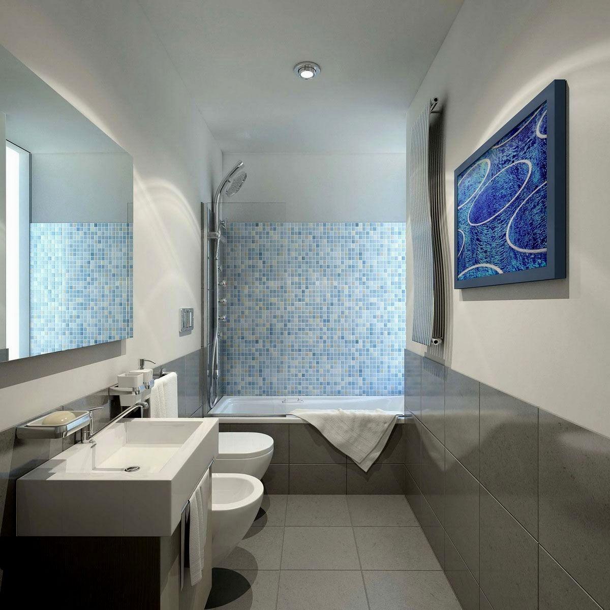 Modern White Floor Tile Bathroom Image - Bathroom Design Ideas ...