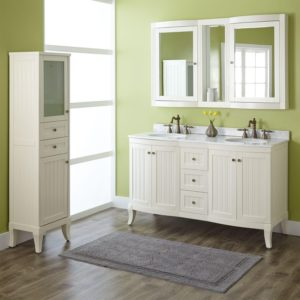 Double Bathroom Vanity Modern Palmetto Creamy White Double Vanity Set Bathroom Gallery