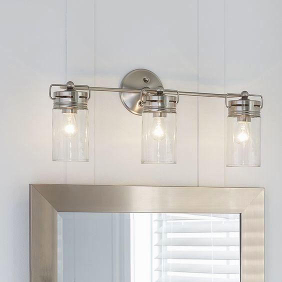 elegant lowes bathroom light fixtures brushed nickel portrait-Fascinating Lowes Bathroom Light Fixtures Brushed Nickel Design