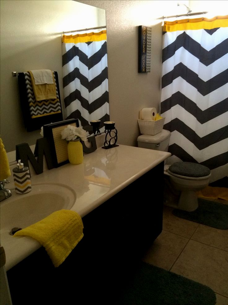 excellent grey and yellow bathroom concept-Lovely Grey and Yellow Bathroom Model