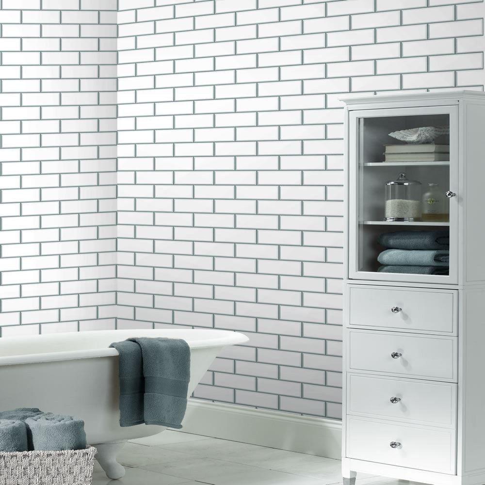 excellent marble subway tile bathroom ideas-Contemporary Marble Subway Tile Bathroom Layout