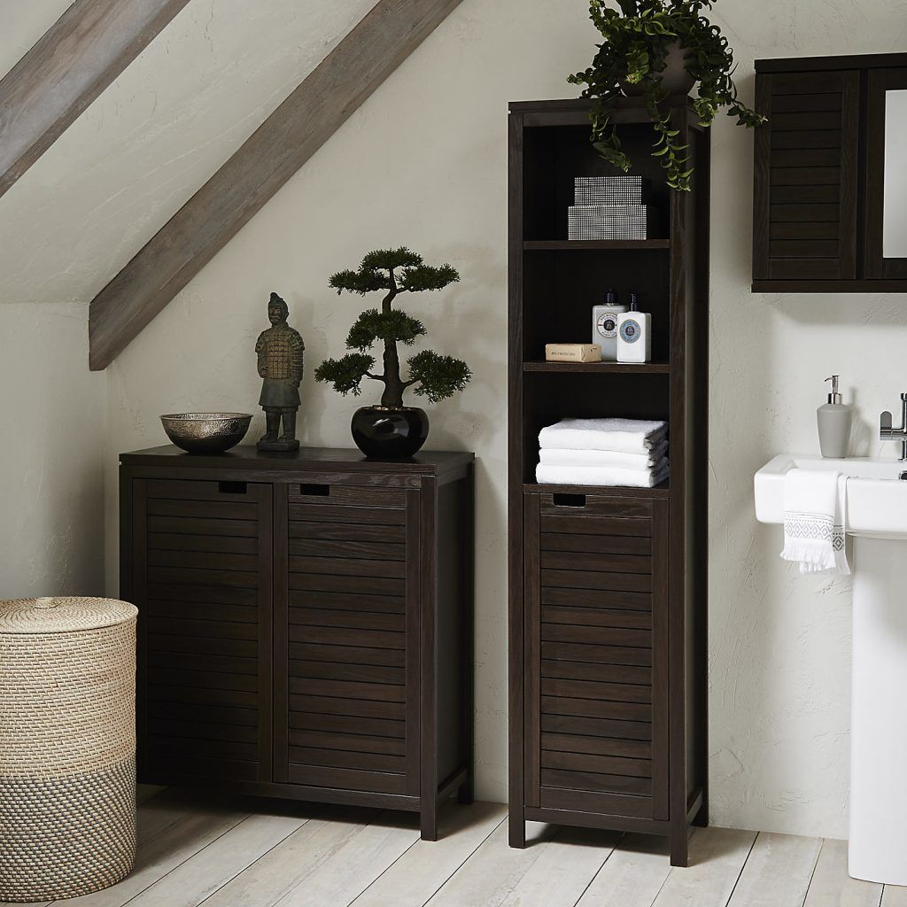 fantastic bamboo bathroom shelf online-Elegant Bamboo Bathroom Shelf Model