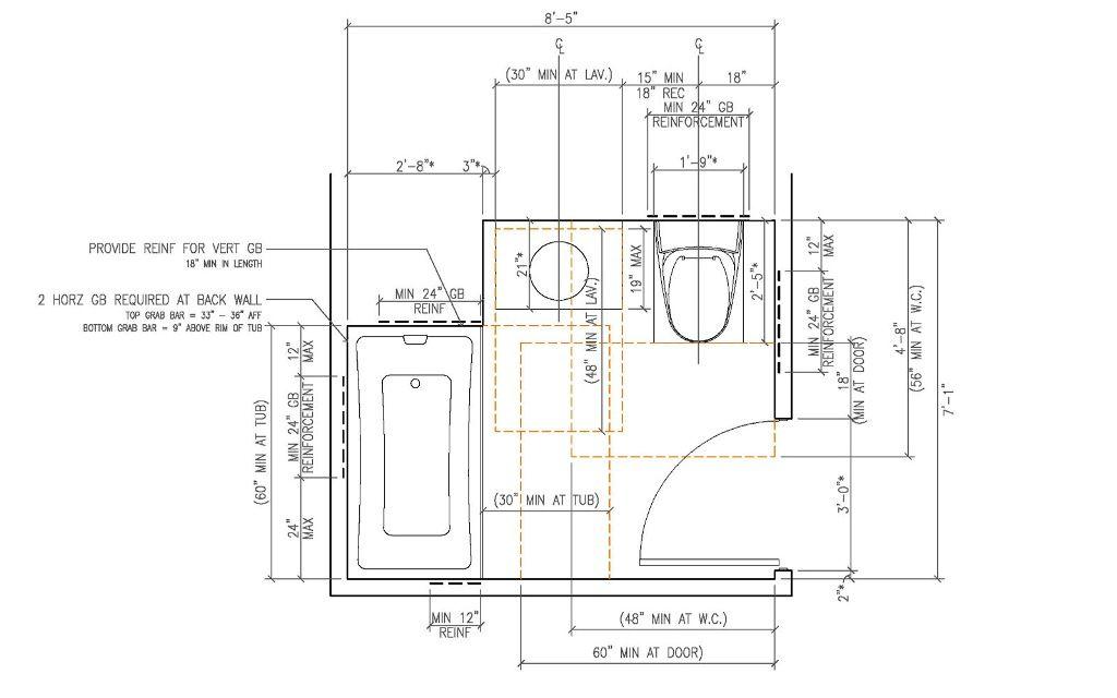Modern Ada Bathroom Sink Requirements Construction Home