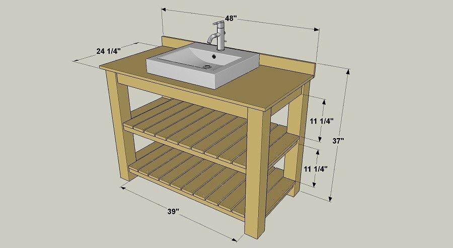fascinating rustic bathroom vanity plans picture-Finest Rustic Bathroom Vanity Plans Décor