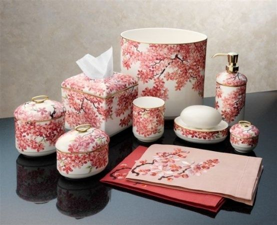finest cherry blossom bathroom set collection-Stylish Cherry Blossom Bathroom Set Layout