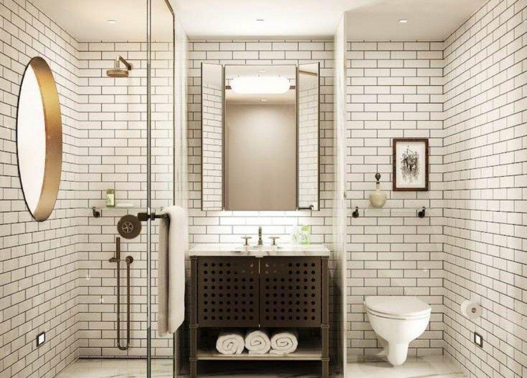 fresh marble subway tile bathroom collection-Contemporary Marble Subway Tile Bathroom Layout